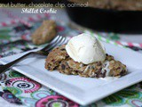 Peanut Butter, Chocolate Chip, Oatmeal Skillet Cookie