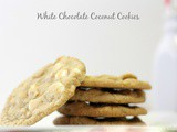 White Chocolate Coconut Cookies
