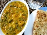 Long beans and potato curry / Barbatti and Aloo Subzi