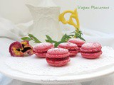 Raspberry Vegan Macarons: Aquafaba French Meringue