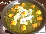 486:Aloo Palak / Potato Spinach Curry(With Step by Step Photos)
