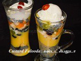 Custard Falooda Recipe | How to make Fruit Falooda – Summer Dessert