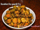 Kovakkai Podi Curry recipe | How to make Kovakkai Fry (Ivy gourd fry)