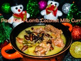 Paal Kari / Mutton Cooked in Coconut Milk