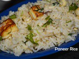 Paneer Rice / Paneer Sadham / Lunch Box Recipes