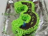3 number shape cake without cake tin/How to make number 3 shaped cake/Step by step pictures/Make your number 3 shaped chocolate cake at home/butter cream icing