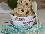 Avocado banana chocolate chips home made egg less ice cream/No ice cream maker