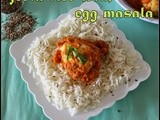 Boiled egg masala curry and Jeer pulav/simple south indian egg gravy with cumin pulav/step by step pictures