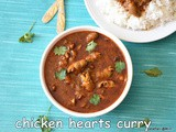Chicken heart curry recipe | pressure cooked chicken heart curry | chicken hearts recipes