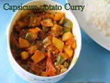 Green Bell pepper Potato Curry | Capsicum Aloo Curry | Quick and Easy Spicy South Indian Curry recipes For Rice and Rotis