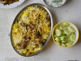 Green chilli mutton dum biryani recipe | gosht chilli dum biriyani | how to make mutton dum biriyani