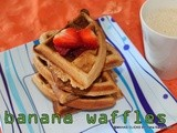 Wheat flour banana waffles/quick and easy break fast waffles/low calorie waffles/step by step pictures