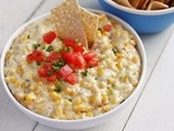 Hot Corn Dip with Poblano Peppers