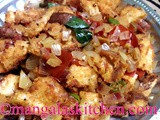 Easy to make Bread Upma Recipe | Bread Pieces Blended with Spices | Breakfast / Evening Snack Recipe