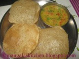 Poori Recipe | Puri Recipe | Secret for making Soft Puffy Poori