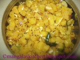 Vazhai Thandu Poriyal - Banana Stem / Plantain Stem Stir fry Recipe