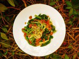 Urap: indonesian cooked vegetable salad with coconut and lime dressing