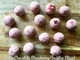 White Chocolate Strawberry Truffles
