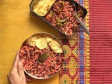 Beet Broccoli Pulav | Weekday Lunch Idea | Gluten Free Recipe