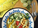 Mediterranean Salad with Egg Free and Dairy Free Mint Dressing | Chilled Summer Salad | How to make Salad Dressing at Home | Vegan Mayo|Mint Mayonnaise | Vegan and Gluten Free Recipe | Chickpeas Salad | Summer Special Recipe