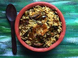 Vangi Bath | Karnataka Style Brinjal Rice | Tasty Vangi Bhath Recipe