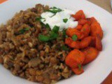 Mujadara….Lentil, Rice and Camelized Onion Pilaf….Great for Vegetarians or Vegans; Gluten Free. Healthy Mediterranean
