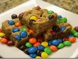 137.2…Peanut Butter m&m Blondies