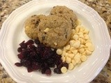 142.8…Oatmeal Cranberry White Chocolate Chunk Cookies