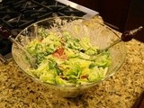 143.0…Romaine Salad with Tiny Tomatoes and Creamy Basil Dressing