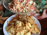 143.4…Greek Salsa with Pita Chips