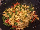 144.0...Velvet Ginger Chicken with Orange Sesame Noodles