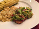 145.6...Chili Marinated Grilled Chicken Breasts with Avocado Salsa