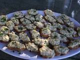 147.8...Shrimp Crostini with Dill and Lemon