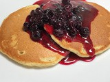 Lemon Poppy Seed Pancakes & Blueberry Lemon Sauce