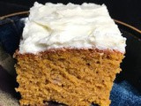 Pumpkin Cake & Cream Cheese Icing