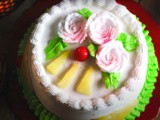 Eggless Pineapple Cake Recipe