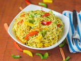 Maggi Noodles in Magic Masala Style – Indian Vegetarian Recipes