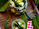 Lime and Fresh Green Peppercorn Pickle Recipe | Pickled Green Peppercorns and Limes in Brine