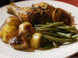 Mediterranean inspired Chicken, Potato and Green Bean Sheet-pan Supper