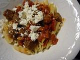 Penne with Chorizo and Tomatoes