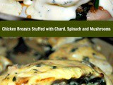 Chicken Breasts Stuffed with Chard, Spinach and Mushrooms