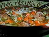 Hearty Italian Turkey Sausage Meatball and Vegetable Soup