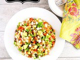 Mexican Chopped Salad with Jicama, Tomatoes, Corn, Black Beans and Avocado