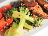 Pork Tenderloin, Broccoli and Carrots in a Spicy Oyster Ginger Sauce