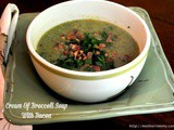 Slender Cream of Broccoli Soup with Bacon
