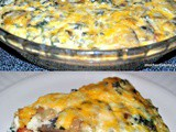 Sweet Potato Quiche with Bacon and Mushrooms