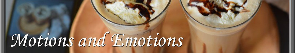 Very Good Recipes - Motions and Emotions