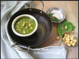 Chole Palak / Chickpeas with Spinach/Garbanzo Beans with Spinach Gravy