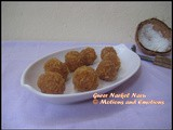 Gurer Narkel Naru / Coconut and Jaggery Sweet Balls