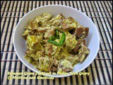 Steamed Green Jackfruit in Poppy Seed Gravy / Bhapa Enchor Posto